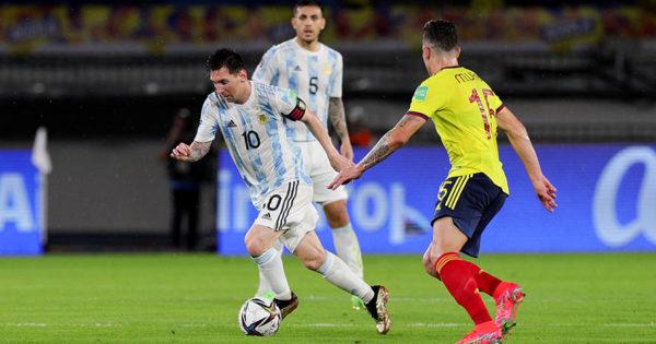 Argentina no lo pudo aguantar ante un Colombia que lo empató en la última jugada