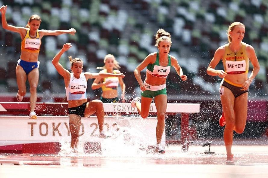 Belén Casetta en los 3.000 metros con obstáculos en los Juegos Olímpicos (Foto: Getty)