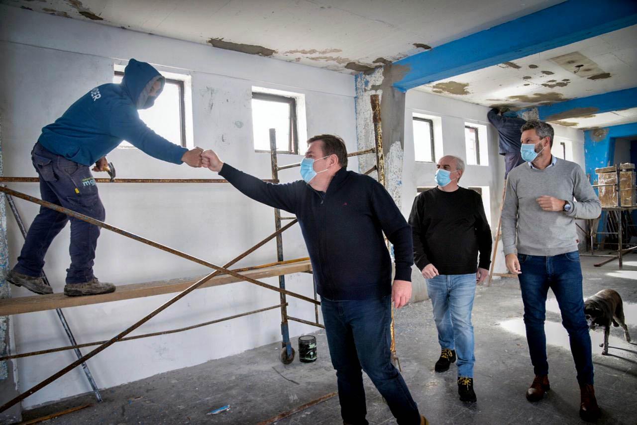 Comenzaron una serie de obras en el gimnasio del Patinódromo Municipal