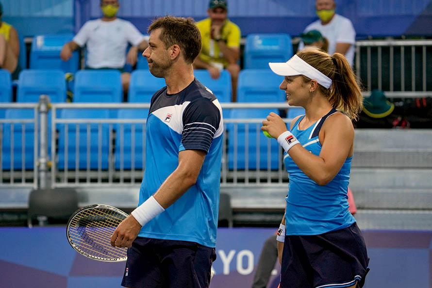 Horacio Zeballos y Nadia Podoroska en su presentación en los Juegos Olímpicos (Foto: Tokyo 2020)