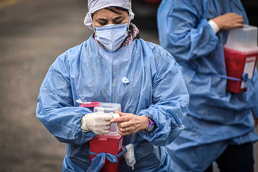 Coronavirus: sigue la vacunación en los barrios y llegaron 30 mil dosis a Mar del Plata