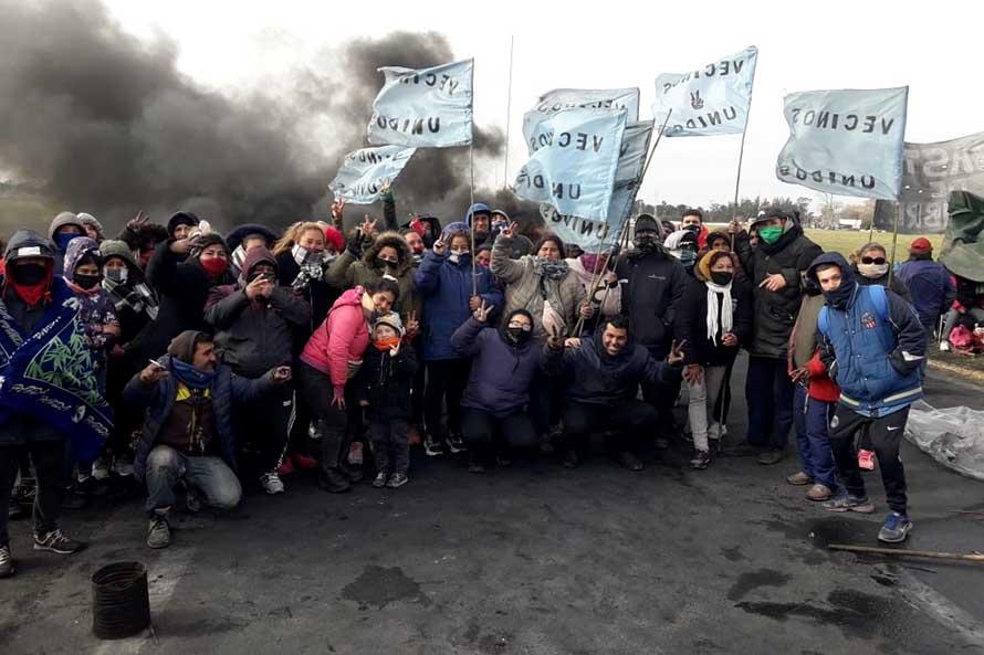 Después de nueve días, levantan el acampe y la protesta en la Ruta 226