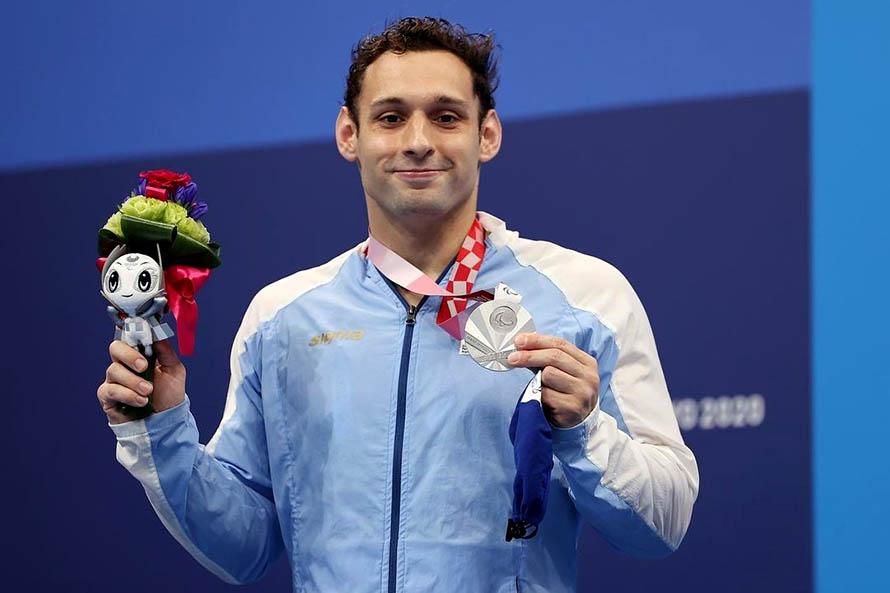 Natación: Fernando Carlomagno ganó una medalla plateada en los Juegos Paralímpicos
