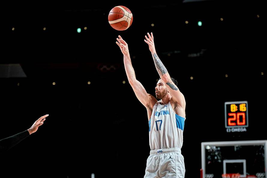 Luca Vildoza, Argentina - Japón básquet Juegos Olímpicos (Foto: Fiba)