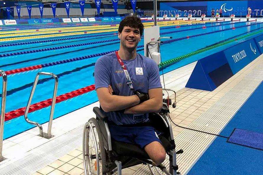 Natación: Matías De Andrade hizo su presentación en los Juegos Paralímpicos de Tokio