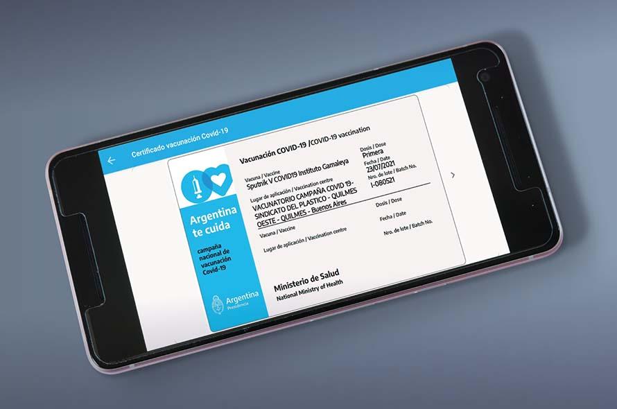 La aplicación Mi Argentina podrá ser usada como carnet de vacunación en el exterior