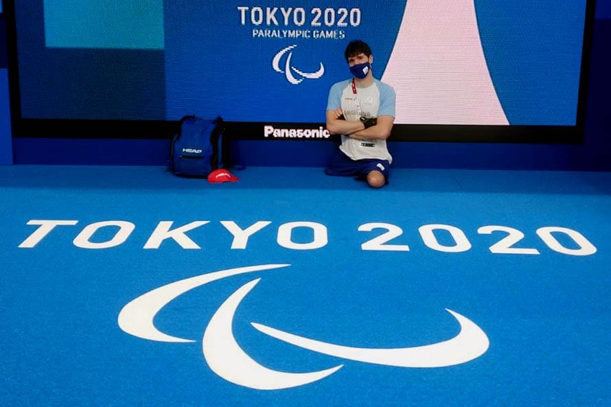 Natación: Matías De Andrade ganó su serie y disputará la final en Tokio