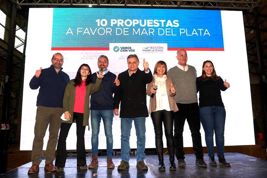 Pulti cerró la campaña rumbo a las PASO con un acto y diez propuestas